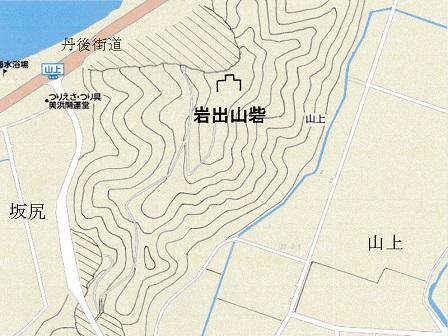 岩出山砦位置図2
