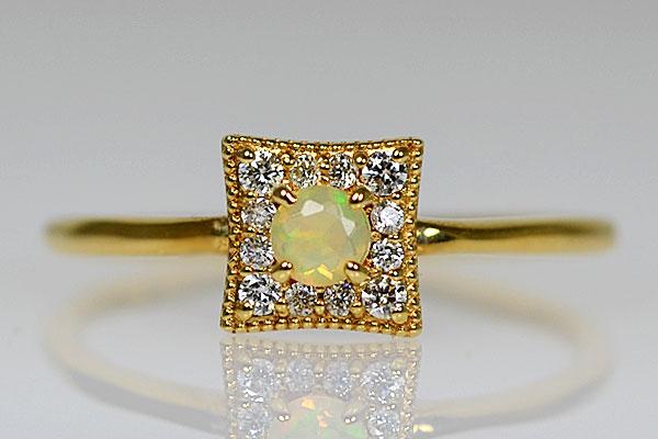 K18イエローゴールドオパール・ダイアモンドリング指輪D2335a.jpg