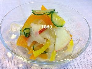 白菜とりんごの酢の物