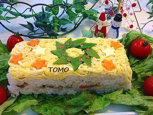クリスマス押し寿司4