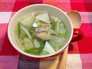 ツナの中華風スープ