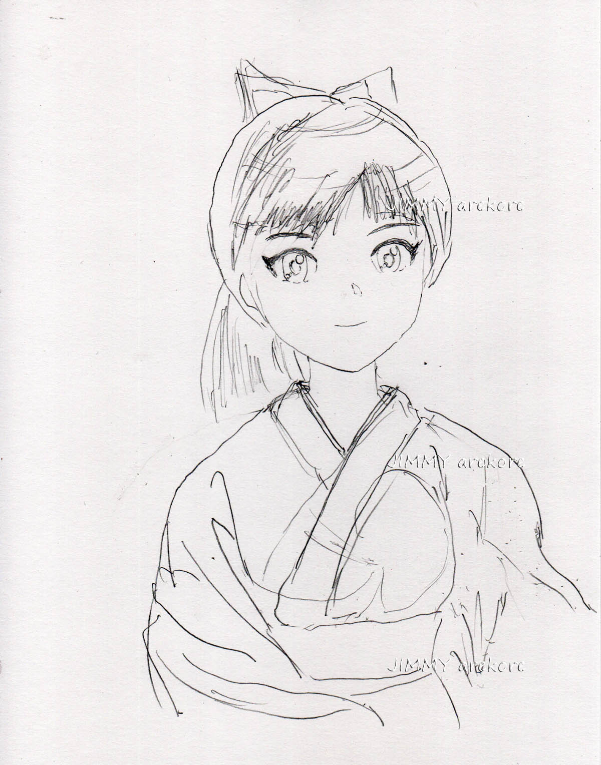 02_和服少女--鉛筆