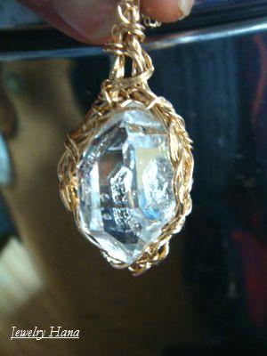 ハーキマーダイヤモンド ネックレス