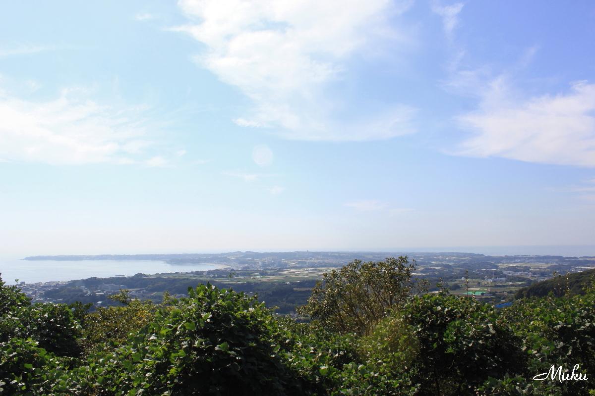 武山から三浦半島南端方面を望む