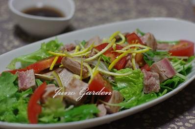炙りマグロのゆずサラダ