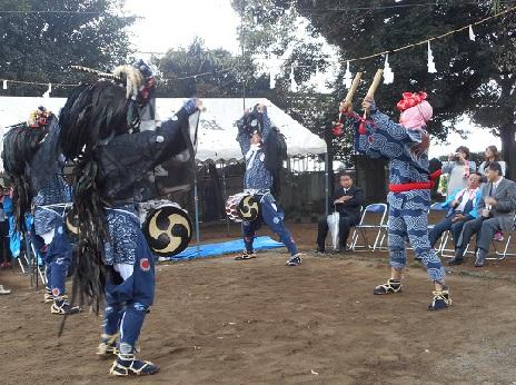②広田のささら20151011龍頭舞