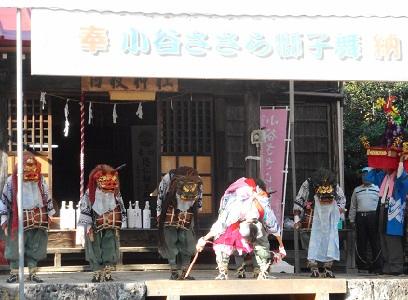 ⑰小谷のささら日枝神社フィナーレ20151012