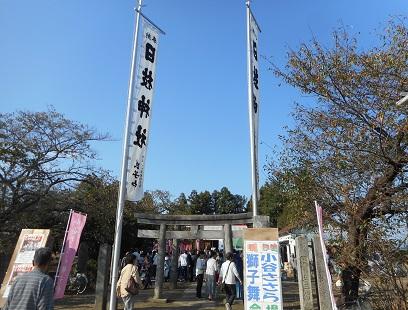 ⑱小谷のささら日枝神社奉納のあと20151012