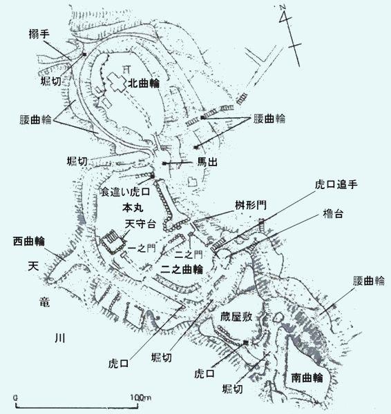 二俣城縄張