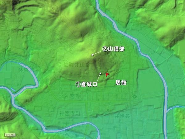 井伊谷城地形図