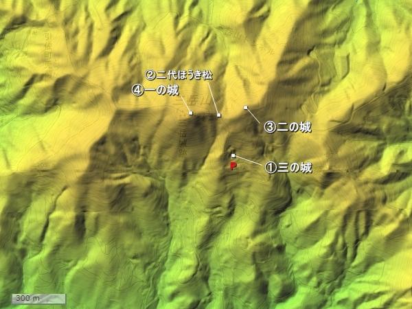 三岳城地形図