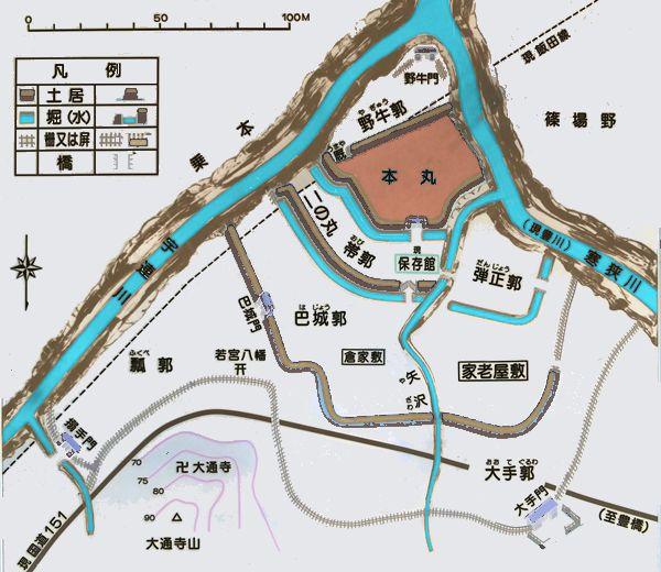 長篠城縄張