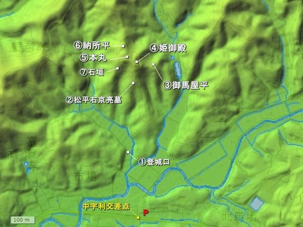 宇利城地形図