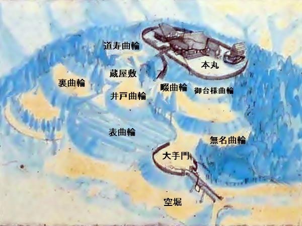田峯城俯瞰図