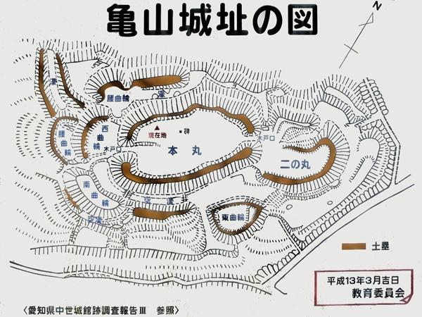 亀山城縄張