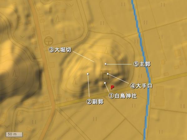 古宮城地形図