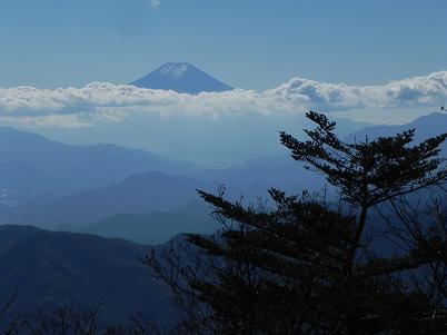 西峰から見た富士山
