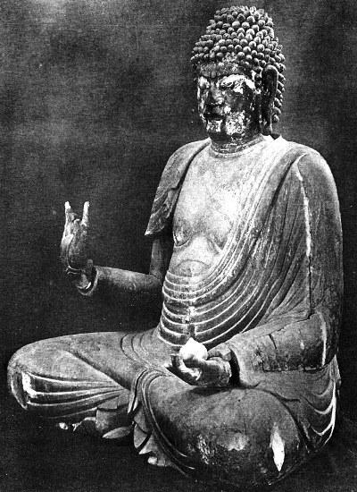 昭和34年修理前の黒石寺薬師如来像