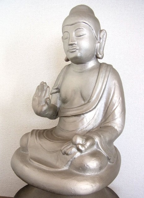 黒石寺薬師像・化仏の石膏型鋳造品