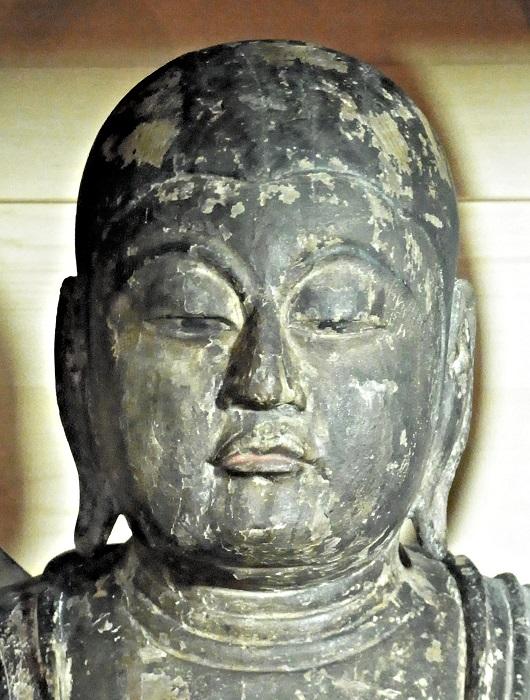 浄山寺・地蔵菩薩立像~顔部