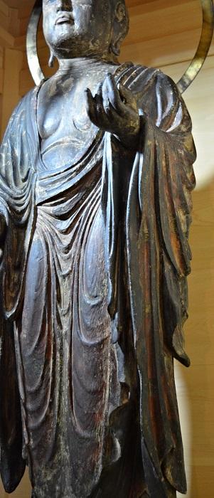 浄山寺・地蔵菩薩像~ダイナミックで粘りある衣文