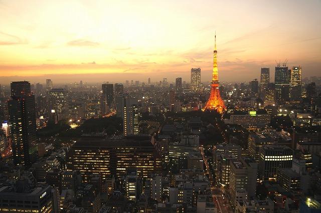 東京 日の入り