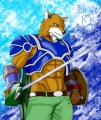 暗黒騎士の狼獣人 構え2 (1)