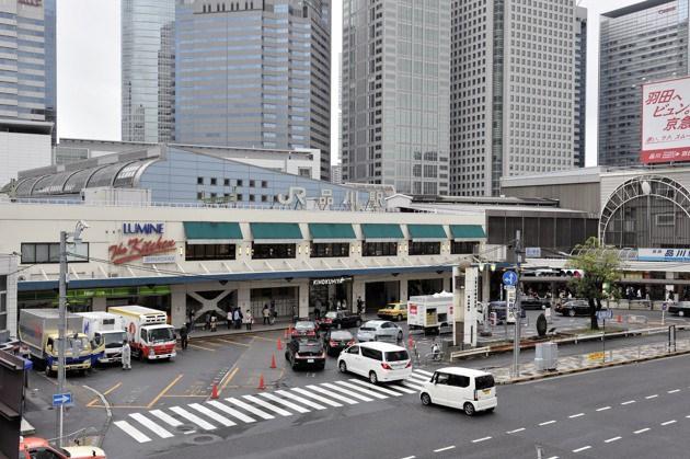 仕事で訪れた品川駅前