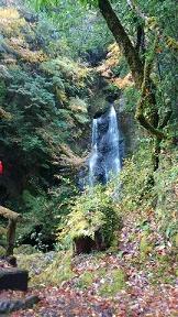 ハート形の滝