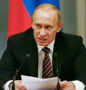 怒るプーチン