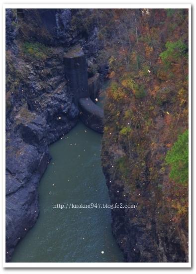 瀬戸合峡と川俣ダム・川俣湖の紅葉