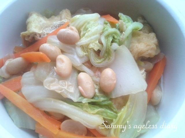 スーパー発芽大豆 白菜煮