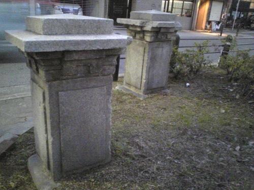 旭橋跡にある橋柱1