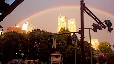 s-都庁と虹