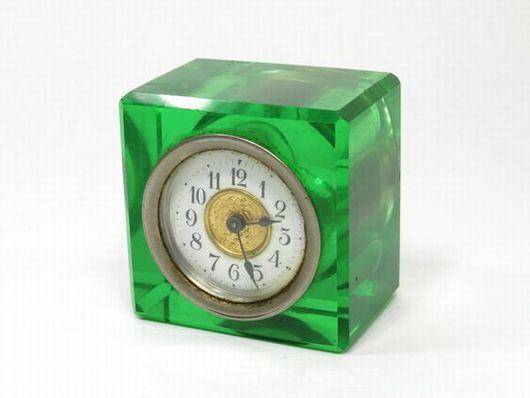 精工舎 ウランガラス 置時計