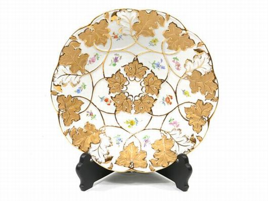 マイセン 金彩 飾皿