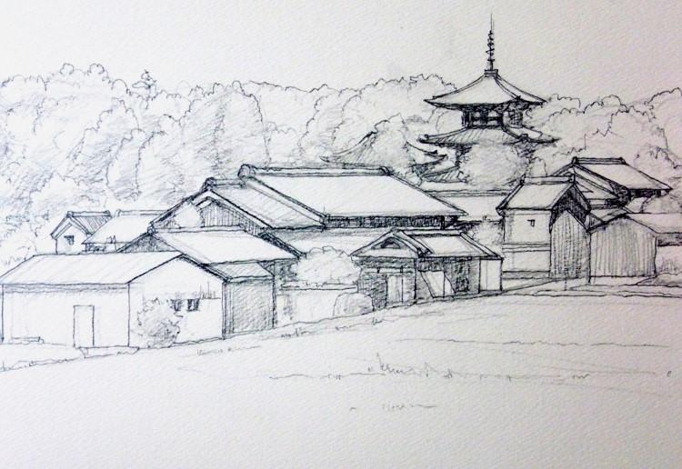 斑鳩法輪寺 デッサン4F (750x516)