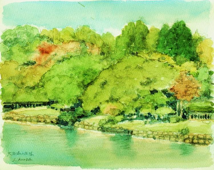 大阪城公園の内堀 (750x598)