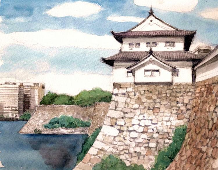大坂城の櫓  (750x587)