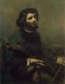クールベ 「チェロを弾く男 ( 自画像 ) 」