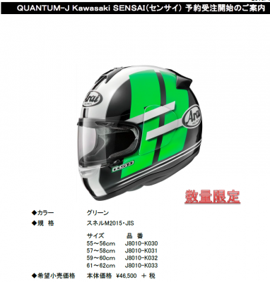 ニューカラーヘルメットsennsai