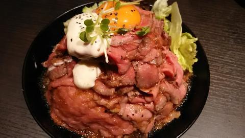 レッドロックローストビーフ丼大 (3)