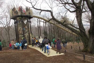 滑り台の登り口