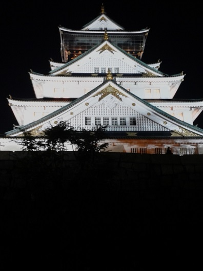 お城の夜景