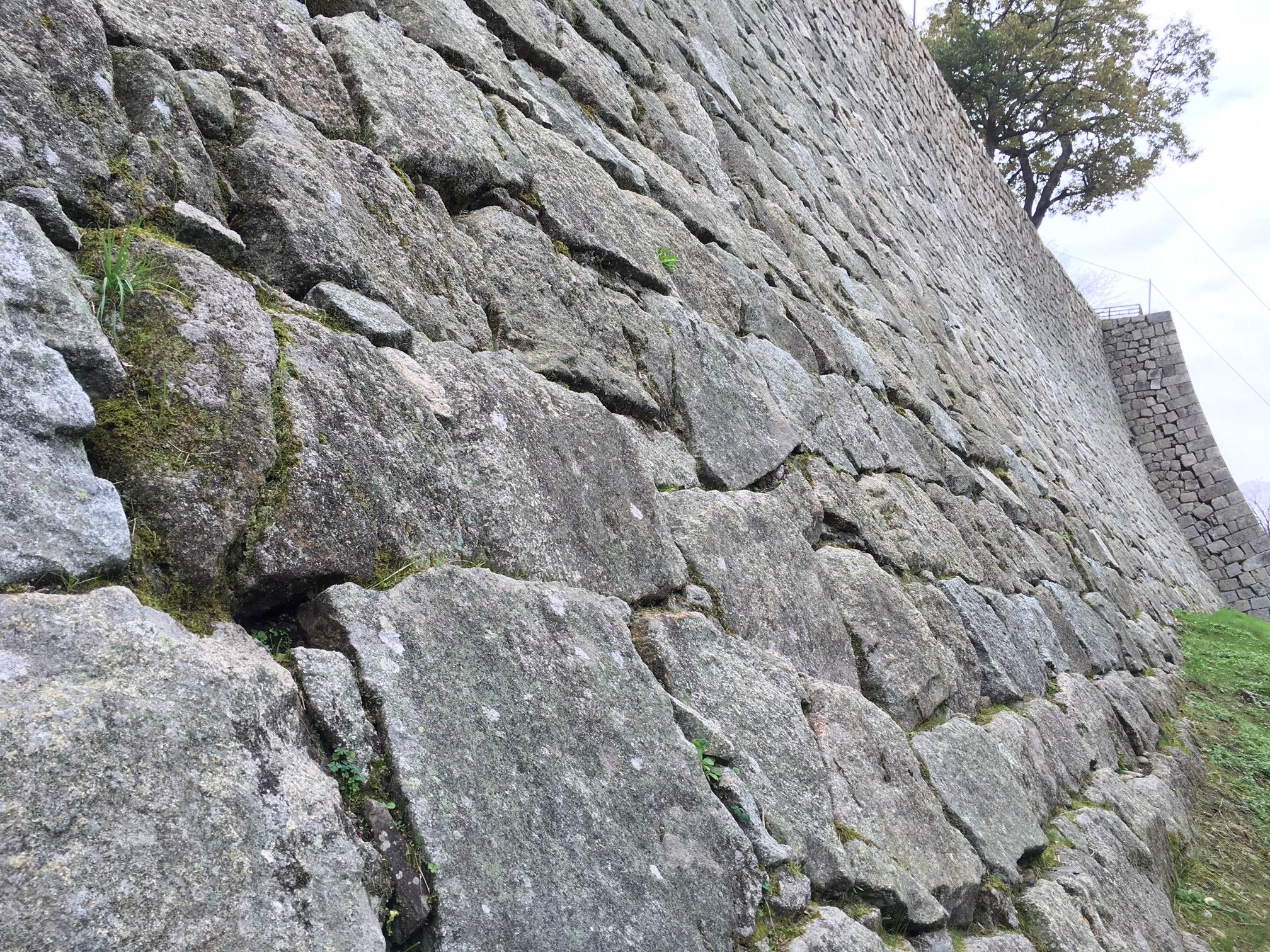 丸亀城の日本一の高さの石垣