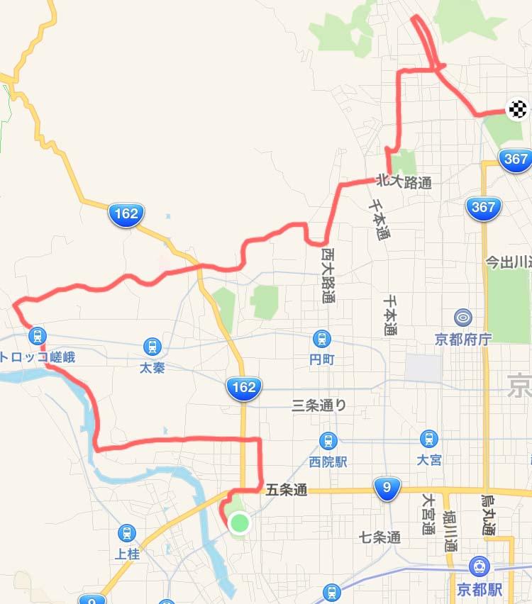 京都マラソンコース試走(前編)