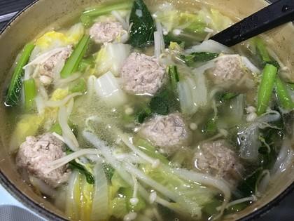 肉団子ともやしのスープ