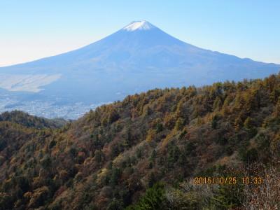 三ツ峠山荘から富士山