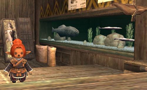 Win版ユーザーにはおなじみすぎる光景 FF11釣りギルドの水槽