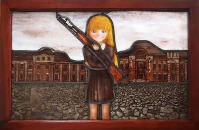 ロシア軍少女の微笑み